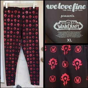XL women WORLD OF WARCRAFT legging Horde Foil